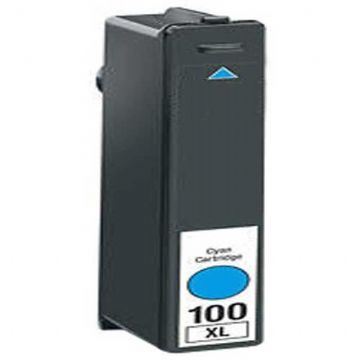 Refurbished High Capacity Cyan Lexmark 100XL Ink Cartridge (Replaces 014N1069E Ink)